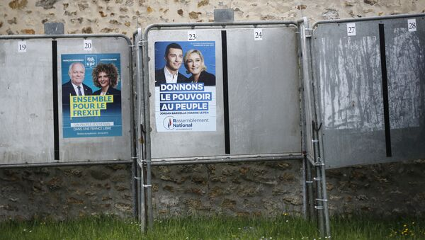 Европейские предвыборные плакаты во Франции - Sputnik Азербайджан