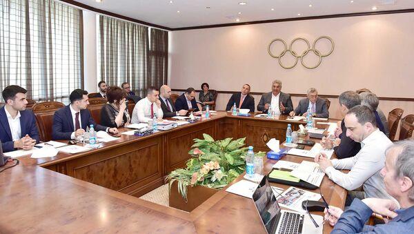 Заседание Координационной комиссии Европейского олимпийского комитета, приуроченное к проведению в столице Азербайджана Европейского молодежного олимпийского фестиваля - Sputnik Азербайджан