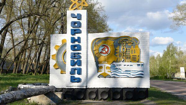 Знак на въезде в Чернобыль - Sputnik Azərbaycan