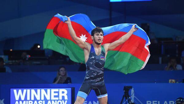 Азербайджанский борец вольного стиля Махир Амирасланов - Sputnik Азербайджан
