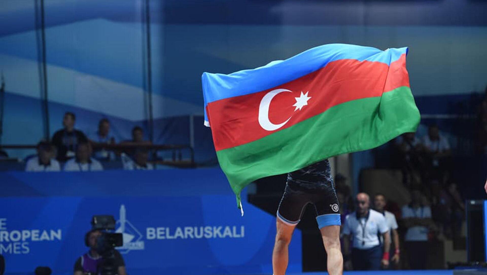 Азербайджанский борец, фото из архива - Sputnik Азербайджан, 1920, 20.08.2021
