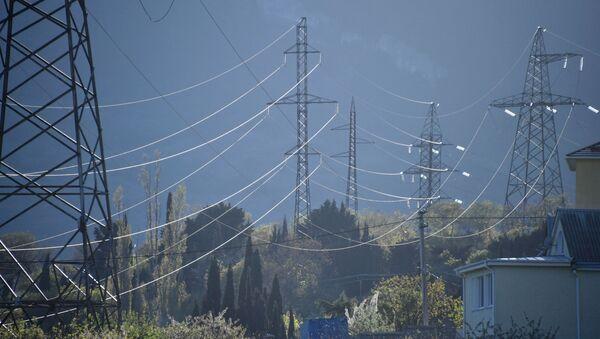 Линии высоковольтных передач, фото из архива - Sputnik Азербайджан