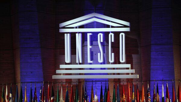 Лого ЮНЕСКО, фото из архива - Sputnik Азербайджан