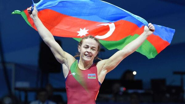 Azərbaycanın qadın güləşçisi Mariya Stadnik - Sputnik Азербайджан