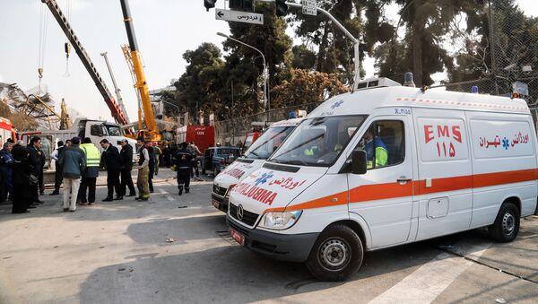 Автомобиль скорой помощи в Иране, фото из архива - Sputnik Азербайджан