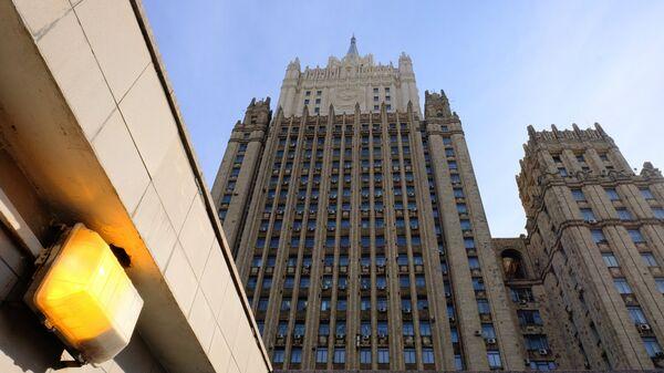 Здание министерства иностранных дел РФ на Смоленской-Сенной площади в Москве. - Sputnik Азербайджан