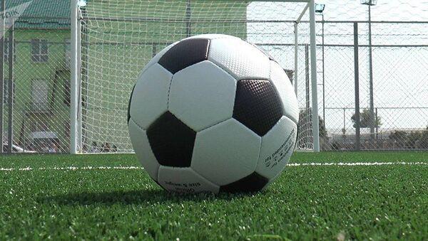 Футбольный мяч перед воротами - Sputnik Азербайджан