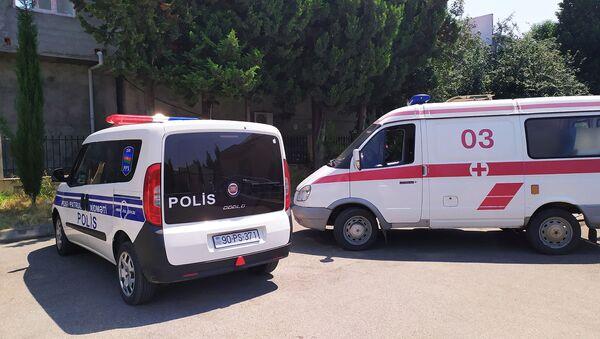 Polis Patrul Xidməti və Təcili Tbbi Yardım maşınları - Sputnik Azərbaycan