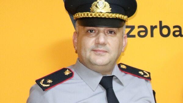 Bakı Şəhər Baş Polis İdarəsinin mətbuat şöbəsinin rəisi, polis mayoru Elşad Hacıyev - Sputnik Azərbaycan