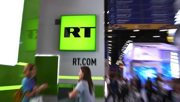 Russia Today-in stendi, arxiv şəkil - Sputnik Азербайджан