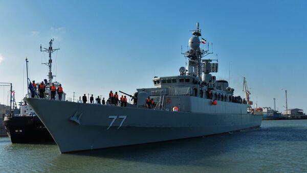 Прибытие отряда кораблей Военно-морских сил Ирана в порт Махачкалы - Sputnik Азербайджан
