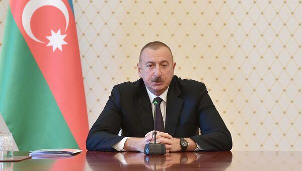 Prezident İlham Əliyevin yanında sosial-iqtisadi sahə ilə bağlı müşavirə keçirilib  - Sputnik Азербайджан