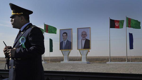 Церемония, посвященная открытию первого участка железной дороги между Туркменистаном и Афганистаном - Sputnik Azərbaycan