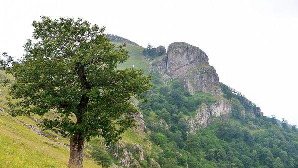 Dəniz səviyyəsindən 2200 metr yüksəklikdə yerləşən Haçaqaya dağı - Sputnik Азербайджан