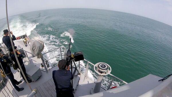 На конкурсе Кубок моря-2019 проведены артиллерийские стрельбы - Sputnik Азербайджан