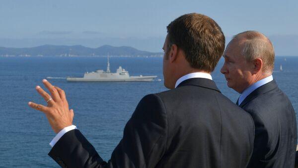 Встреча лидеров России и Франции Макрона и Путина - Sputnik Azərbaycan
