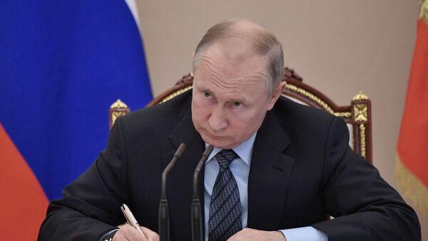 Президент РФ Владимир Путин, фото из архива - Sputnik Azərbaycan