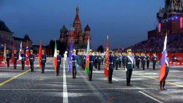 Военный оркестр Азербайджана участвует в международном военно-музыкальном фестивале Спасская башня - Sputnik Азербайджан
