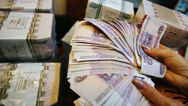 Рублевые купюры, фото из архива - Sputnik Азербайджан
