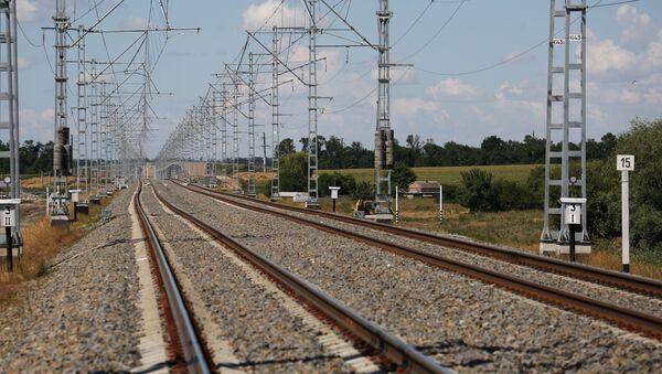 Железнодорожные пути, фото из архива - Sputnik Азербайджан
