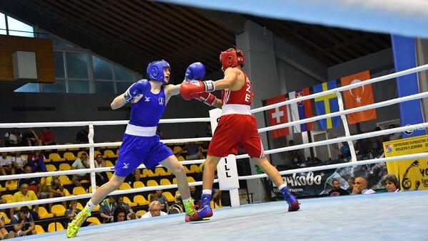 Чемпионат Европы по боксу среди молодежи, проходящий в Софии (Болгария), фото из архива - Sputnik Азербайджан