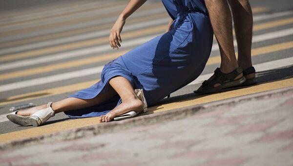 Девушка пострадавшая в ДТП, фото из архива - Sputnik Азербайджан
