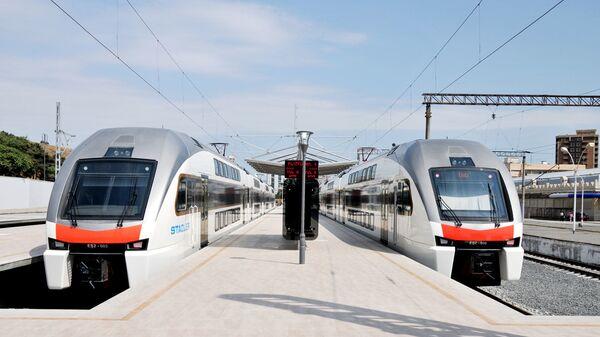 Поезд Баку-Сумгаит, фото из архива - Sputnik Азербайджан