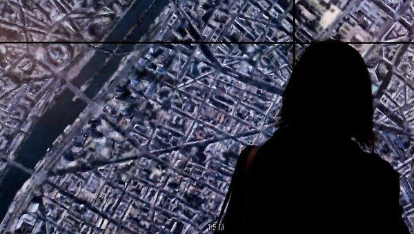 Человек смотрит на Google Earth - Sputnik Азербайджан