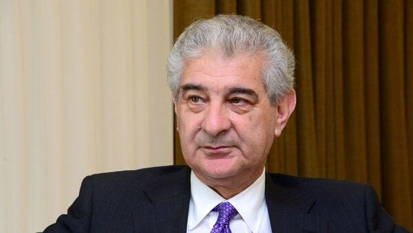 Вице-премьер Азербайджана, заместитель председателя-исполнительный секретарь партии Ени Азербайджан Али Ахмедов - Sputnik Азербайджан