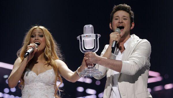 Победители Евровидения-2011 Нигяр Джамал и Эльдар Гасымов, фото из архива - Sputnik Азербайджан