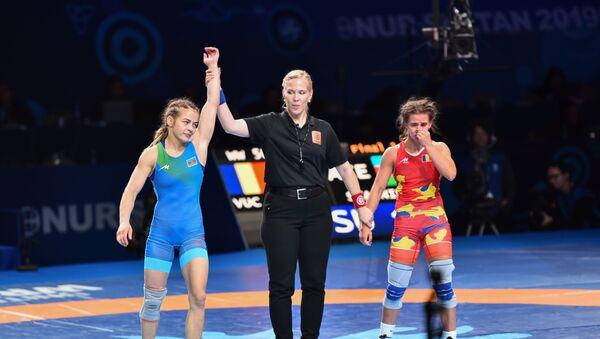 Мария Стадник победила на чемпионате мира в Нур-Султане (Казахстан) - Sputnik Азербайджан