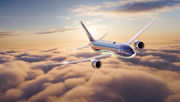 Пассажирский самолёт AZAL, фото из архива - Sputnik Азербайджан