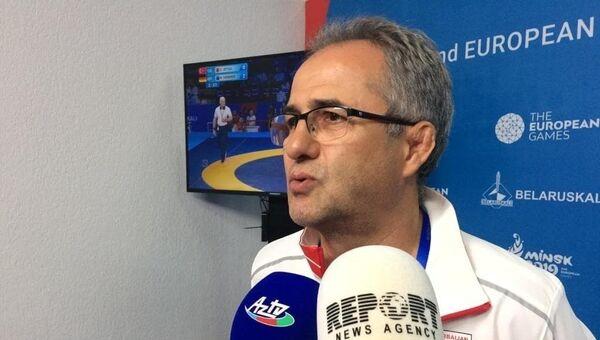 Главный тренер сборной Азербайджана по вольной борьбе Сайпулла Абсаидов, фото из архива - Sputnik Азербайджан