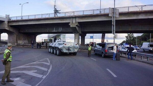 Kiyevdə Metro körpüsündə vəziyyət  - Sputnik Azərbaycan