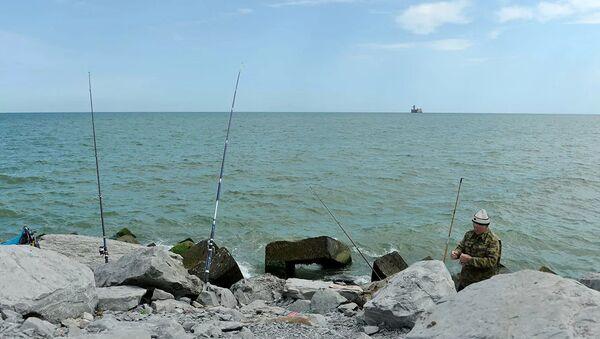 Побережье Каспийского моря в Каспийске, фото из архива - Sputnik Азербайджан