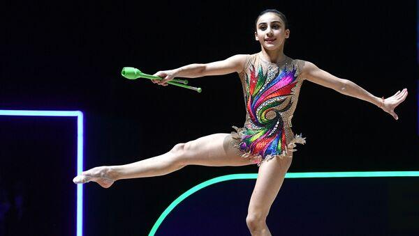 Зохра Агамирова (Азербайджан) на чемпионате Европы по художественной гимнастике в Баку - Sputnik Азербайджан