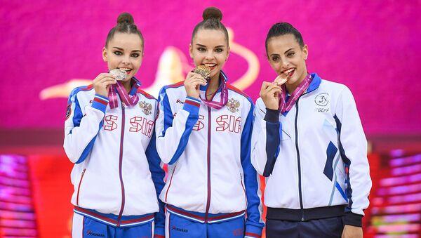 Финал многоборья чемпионата мира по художественной гимнастике в Баку - Sputnik Азербайджан