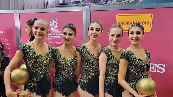 Групповая команда Азербайджана по гимнастике - Sputnik Азербайджан