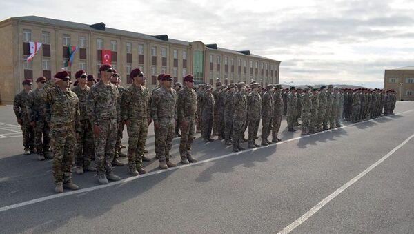 В Баку состоялась церемония открытия совместных учений «Кавказский Орел - 2019»  - Sputnik Азербайджан