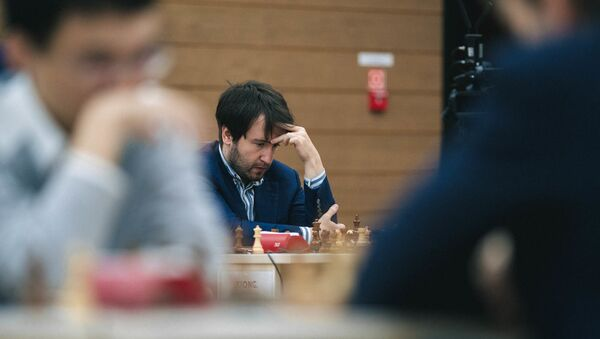 Азербайджанский гроссмейстер Теймур Раджабов на Кубке мира по шахматам в Ханты-Мансийске - Sputnik Азербайджан