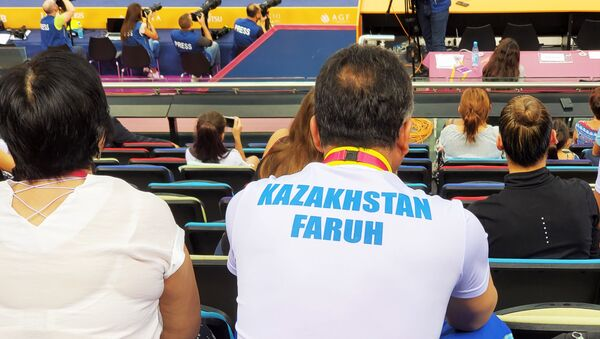 Президент федерации художественной гимнастики казахстанского города Шымкент Муслим Шаназаров - Sputnik Азербайджан
