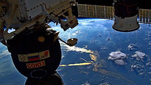 Вид на реку Амазонку с борта МКС - Sputnik Азербайджан