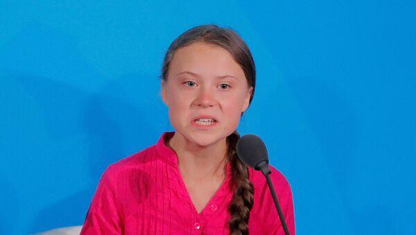 Грета Тунберг из Швеции в ООН - Sputnik Азербайджан