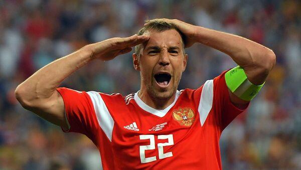 Нападающий сборной России Артем Дзюба - Sputnik Азербайджан