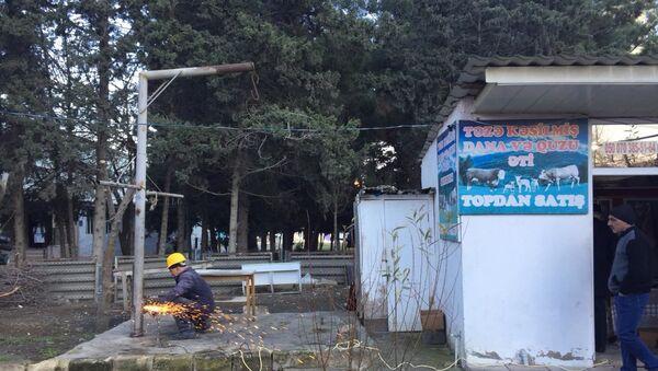 В Низаминском районе Баку были демонтированы приспособления для забоя скота - Sputnik Азербайджан