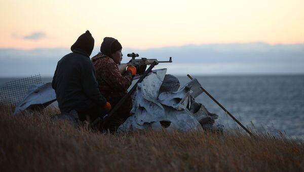 Охотники, фото из архива - Sputnik Azərbaycan