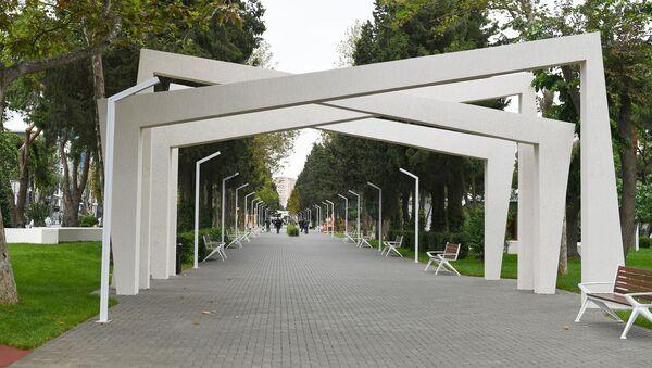 Atatürk prospektində yerləşən park - Sputnik Азербайджан