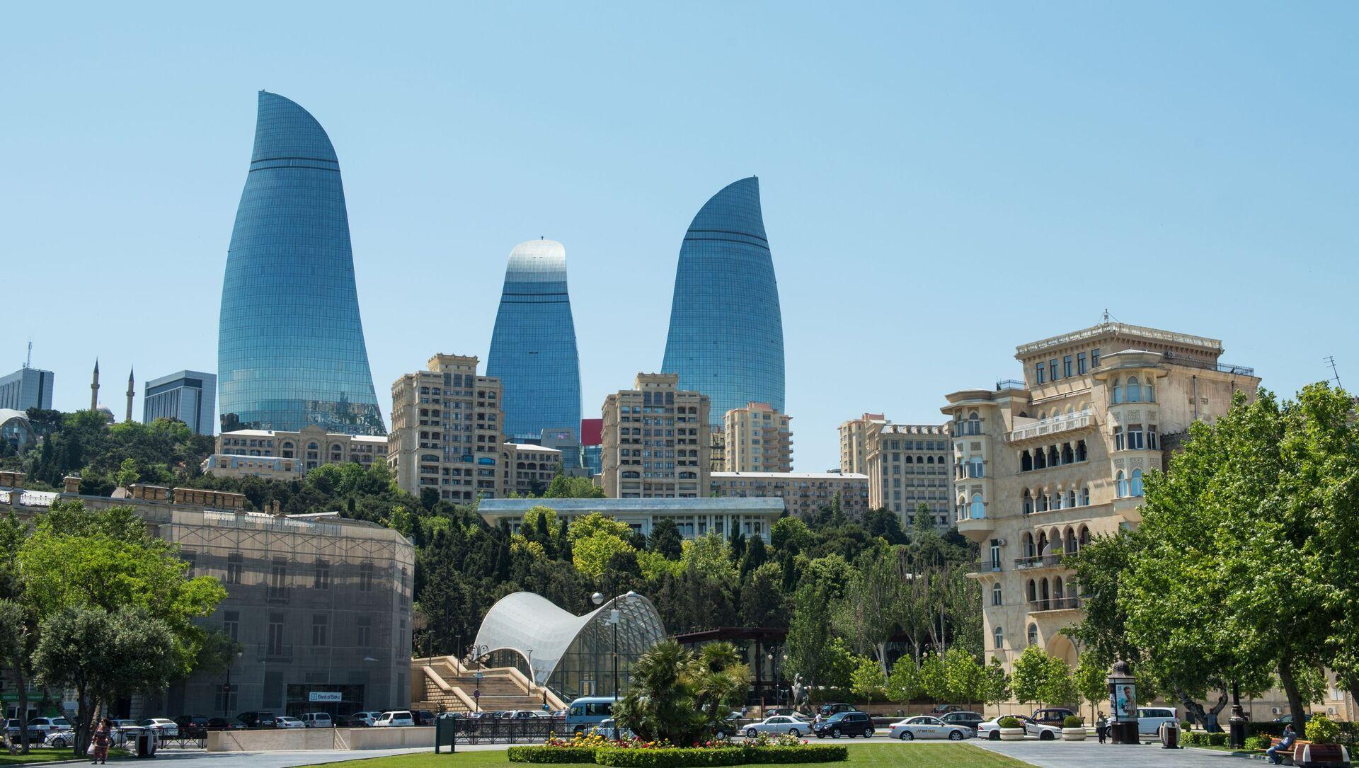 Flame Towers kompleksi - Sputnik Азербайджан, 1920, 27.06.2021