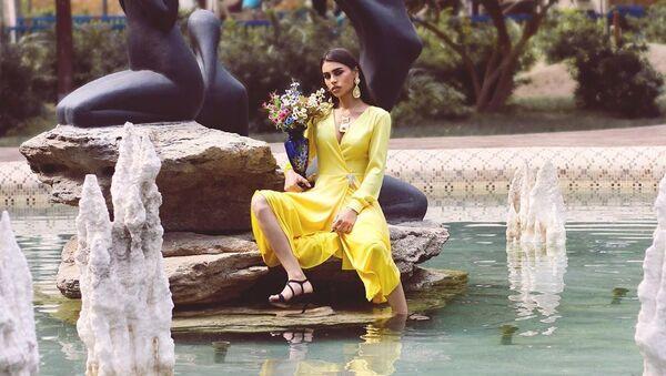 Азербайджанская модель Мехин Оруджева, фото из архива - Sputnik Азербайджан