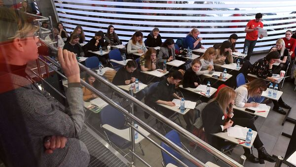 Студенты, фото из архива - Sputnik Азербайджан